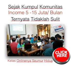 kumpul komunitas income 5 - 15 juta/bln tidak sulit