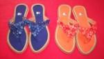 Segitiga Polos Biru Tua & Orange